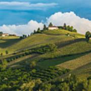 Vineyards Of Langhe, Piedmont, Unesco Art Print