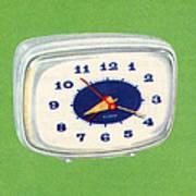 Vintage 1950s Alarm Clock Art Print