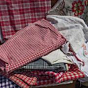 Vintage French Textiles Art Print