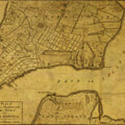 Map Of New York 1776.Vintage Map Of New York City 1776 By Design Turnpike