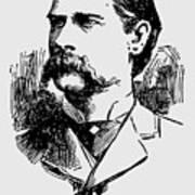 Vintage Newspaper Wyatt Earp Portrait 1896 - T-shirt Art Print