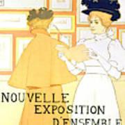 Vintage Poster Advertising A Exhibition At The Salon Des Cent, 1896  Art Print