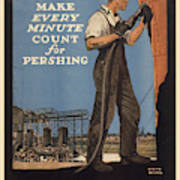 Vintage Poster - Make Every Minute Count Art Print