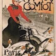 Vintage Poster - Motocycles Comiot Art Print