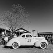 Vintage Race Car Gold King Mine Ghost Town Art Print