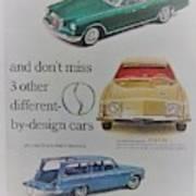 Vintage Studebaker Advertisement Art Print
