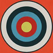 Vintage Target - Orange Art Print