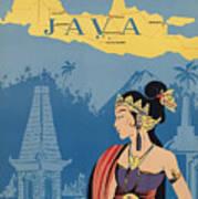 Vintage Travel Poster - Java Art Print