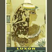 Vintage Travel Poster - Luxor, Egypt Art Print