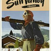 Vintage Travel Poster - Sun Valley, Idaho Art Print