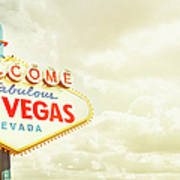 Vintage Welcome To Fabulous Las Vegas Art Print