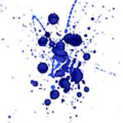 Violet Splashes Art Print