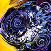 Violet Tri Fish Art Print