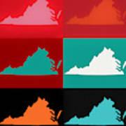 Virginia Pop Art Map Art Print