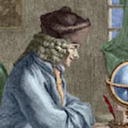 Voltaire In His Office In Vernay Art Print