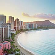 Waikiki Beach At Sunrise Art Print