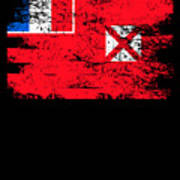 Wallis Futuna Shirt Gift Country Flag Patriotic Travel Oceania Light Art Print