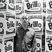 Warhol & Brillo Boxes At Stable Gallery Art Print