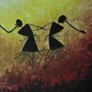 Warli Painting Art Print