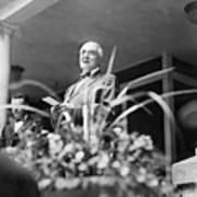 Warren Harding Giving Speech Art Print