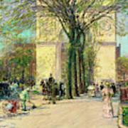Washington Arch, Spring - Digital Remastered Edition Art Print