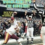 Washington Redskins Darryl Grant, 1983 Nfc Championship Sports Illustrated Cover Art Print