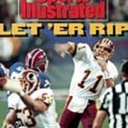 Washington Redskins Qb Mark Rypien, Super Bowl Xxvi Sports Illustrated Cover Art Print