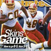 Washington Redskins Stephen Davis... Sports Illustrated Cover Art Print