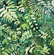 Watercolor - Rainforest Canopy Design Art Print