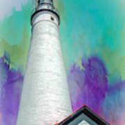 Watercolor Sky Lighthouse Art Print