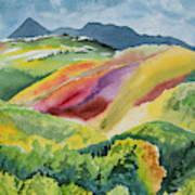 Watercolor - Wilson Mesa Landscape Impression Art Print