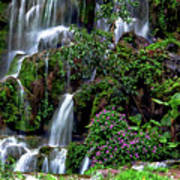 Waterfalls At Seven Star Park Art Print