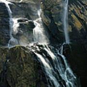 Waterfalls At The Cirque De Gavarnie Art Print