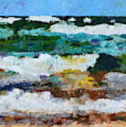 Waves Crash - Painting Version Art Print