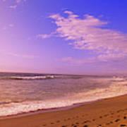 Waves On The Beach, North Beach, Point Art Print
