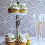 Wedding Cupcakes And Champagne Art Print