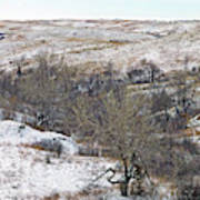 Western Edge Winter Hills Art Print