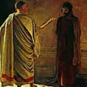What Is Truth Christ And Pilate Art Print
