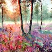 When Heathers Bloom Art Print