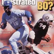 Which Way Bo? Bo Jackson Of Kansas City Royals And Los Angeles Raiders Sports Illustrated Cover Art Print