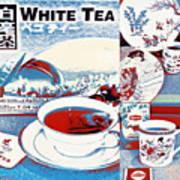 White Tea In Blue And White Art Print