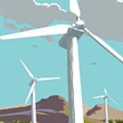 Wind Turbine Farm In Countryside Art Print