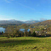 Windermere With Loughrigg Fell And The Langdales From Ambleside Art Print