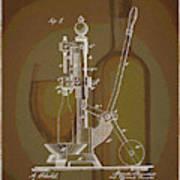 Wine Bottle Corking Patent Art Print