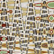 Wine Corks At An Angle Abstract Art Print