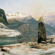 Winter At The Sognefjord - Digital Remastered Edition Art Print