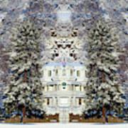Winter At The Susanville Elks Lodge Art Print