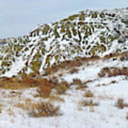 Winter Badlands Art Print