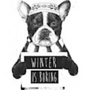 Winter Is Boring Art Print