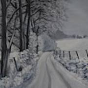 Winter Lane Art Print